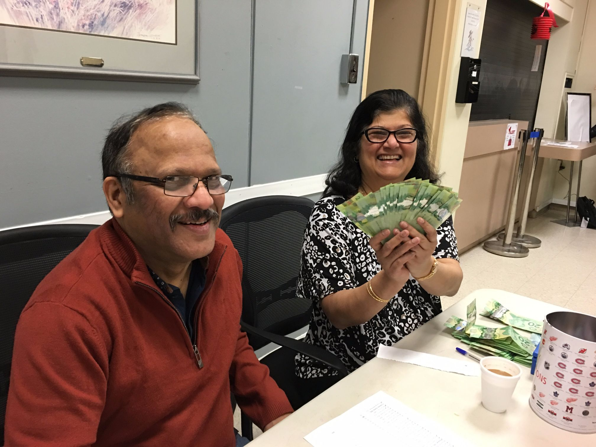 Steve and Sophia show off the big money